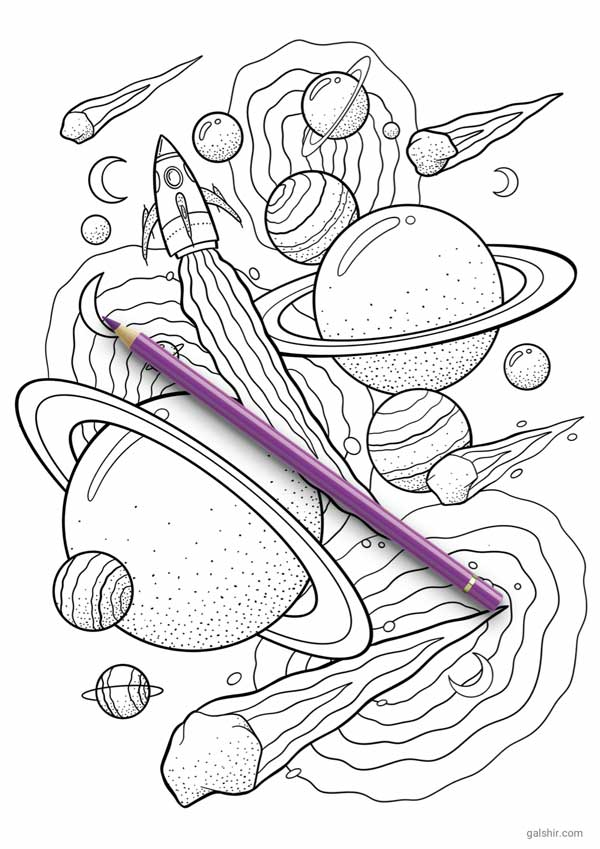 - The Crazy Space Coloring Pages By Gal Shir